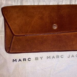 Marc by Marc Jacobs Brown Suede Leather clutch
